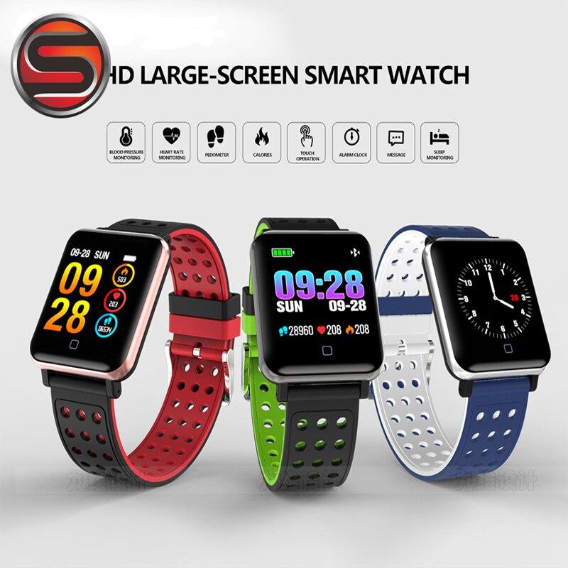 Energetic M19 Smartband Big Screen Blood Pressure Heart Rate Smart Bracelet Multi Sport Mode Pulse Meter Swimming Wristband Waterproof B02 And Digestion Helping Smart Electronics