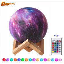Remote Control 16 Colors Star 3D Moon Lamp  LED Night Light Luminaria for Party Pub Concert USB Charging Painted