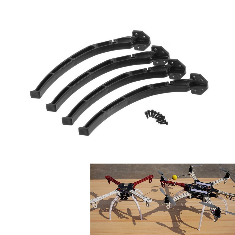 4pcs/set Universal Aircraft Qudcopter Wheels Tripod Landing Skids Gear For  F450 F550 SK480 (1 Set )