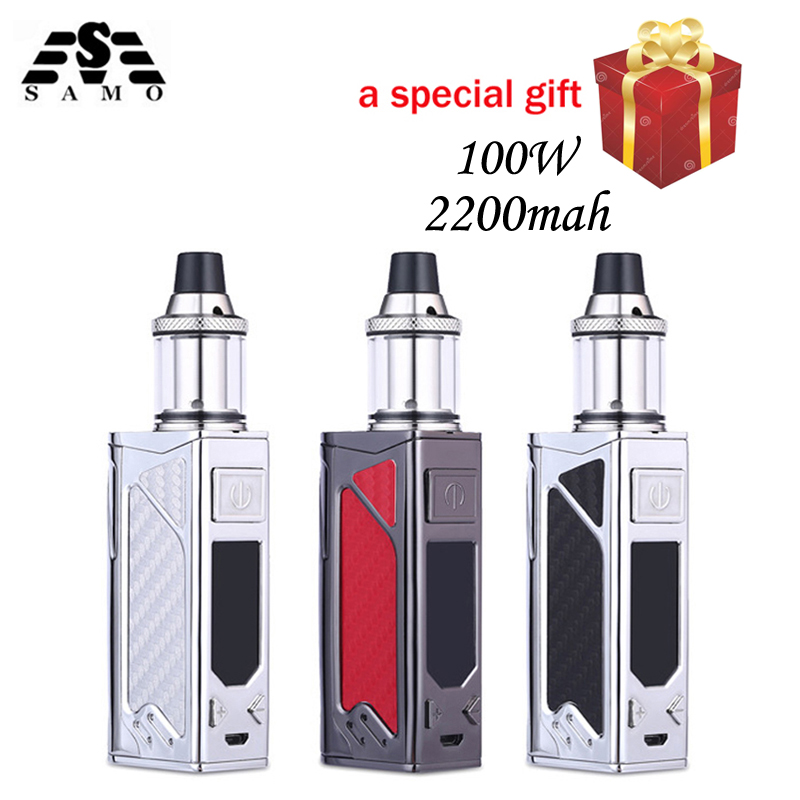 Orignal 100 W caja mod cigarrillo electrónico kit 2200 mAh evaporador humo vaper pluma vape enorme vaporizador e-cigarrillos hookah kits