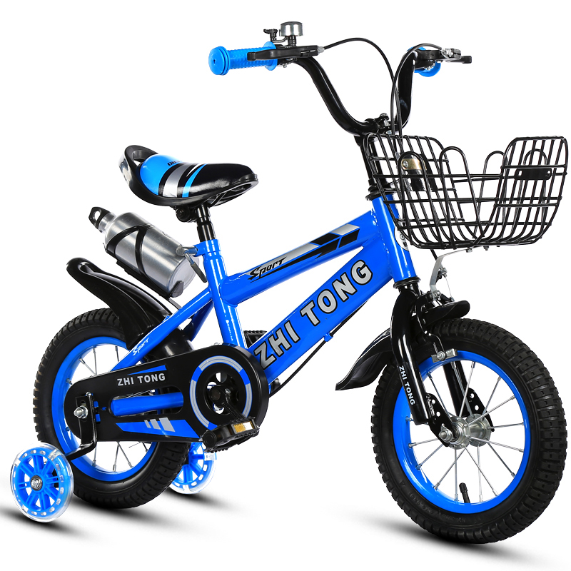 Kid bike student bike for Boys and girls 12/14/16/18 inch cycling bicycle Light bike Gift for children