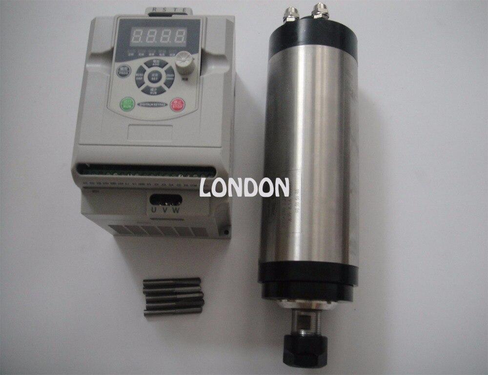 2.2KW VFD onduleur + ER20 2.2KW refroidissement par eau CNC broche de fraisage 24000 tr/min, 2,2 KW broche + CNC bits de gravure