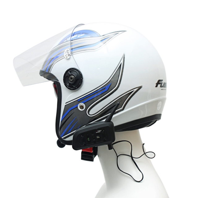 Motocicleta bluetooth intercomunicador del casco de auriculares 1200 metros 4 riders intercomunicador bluetooth moto