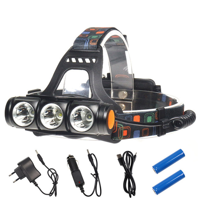 1500LM T6+Q5 LED Led Headlamp Headlight Zoomable Waterproof Head Torch Flashlight 4 Modes Head Lamp By 18650 Battery