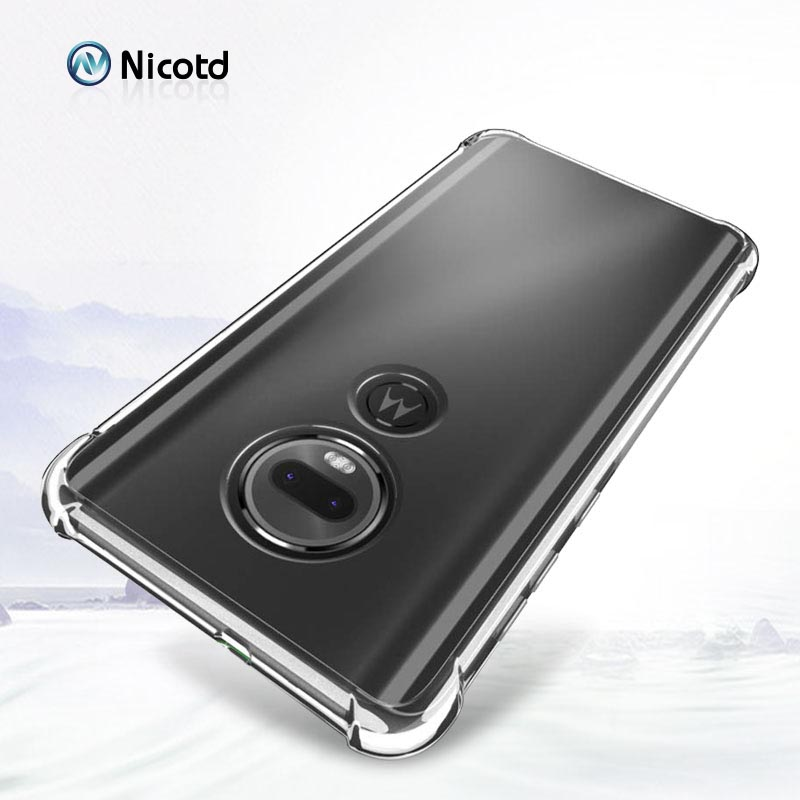 Transparent TPU Case for Motorola G7 plus z3 g6 Clear Phone Case for MOTO One power