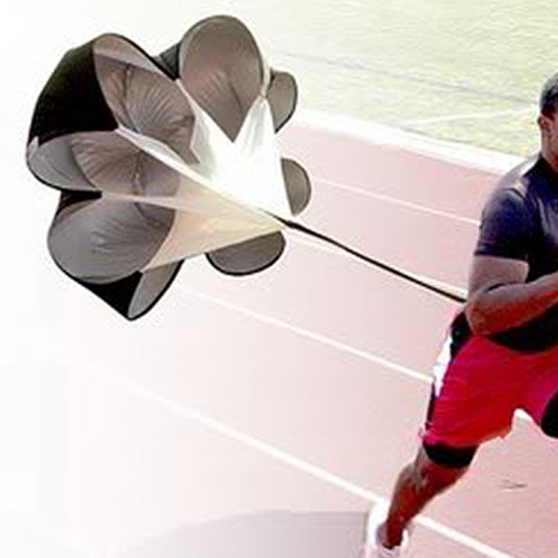 Speed Resistance Training Parachute Running Chute Soccer Football Training Parachute Physical Umbrella Black
