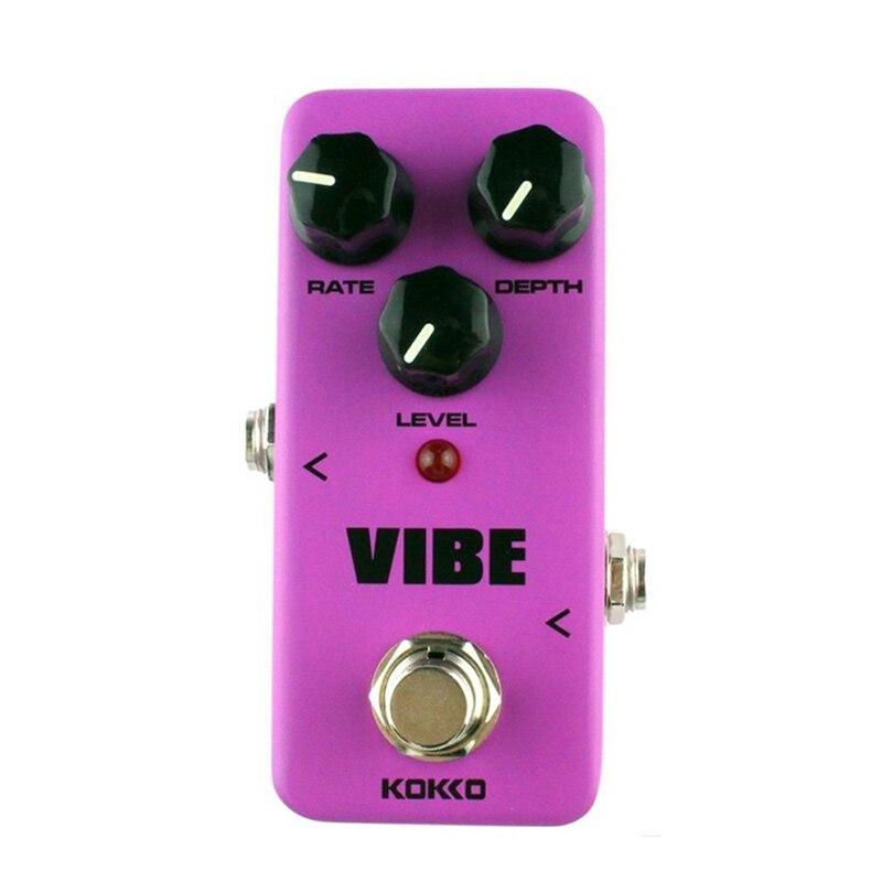 KOKKO guitare Mini effets pédale Vibe-haut-parleur rotatif analogique effet processeur de son accessoire Portable pour guitare et basse-F
