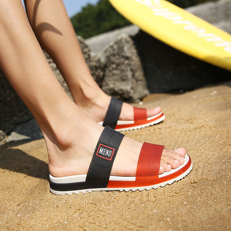 LAISUMK Summer Beach Men Slippers Casual Shoes Double Buckle Man Slip on Flip Flops Flats Camouflage Flip Flop Indoor & Outdoor 104