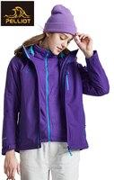 Пелльо Куртка для открытого воздуха Для женщин прилив бренд куртка 3 в одном утолщение флис из двух частей Альпинизм Костюмы женский пиджак