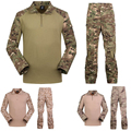 Camo tactical military paintball army combat Sets multicam pants with Frogman 4 colors clothing militare abbigliamento softair