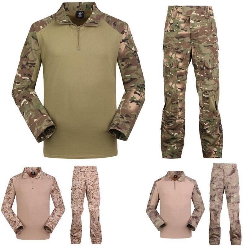Camo tactique militaire paintball armée combat ensembles multicam pantalon avec Frogman 4 couleurs vêtements militare abbigliamento softair