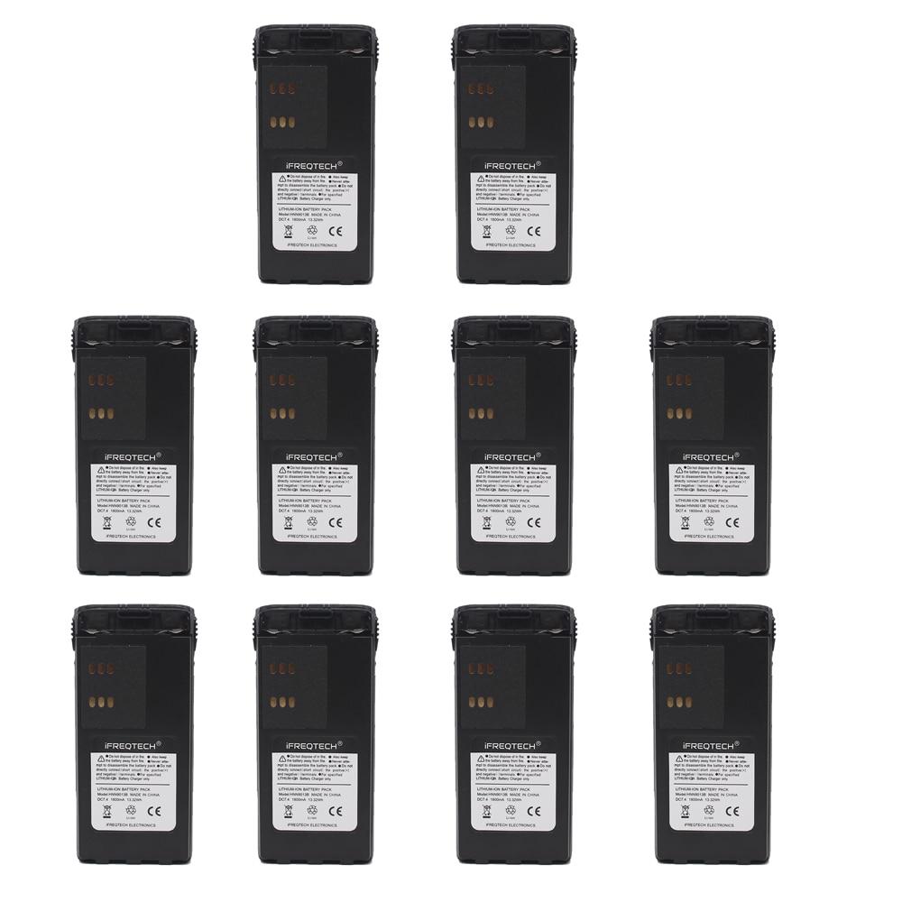 10PCS HNN9013D HNN9013 1800mAh Li-ion Battery For MOTOROLA Radio GP340 GP380 GP680 HT1250 HT750 GP328 PRO5150 MTX850 PR860