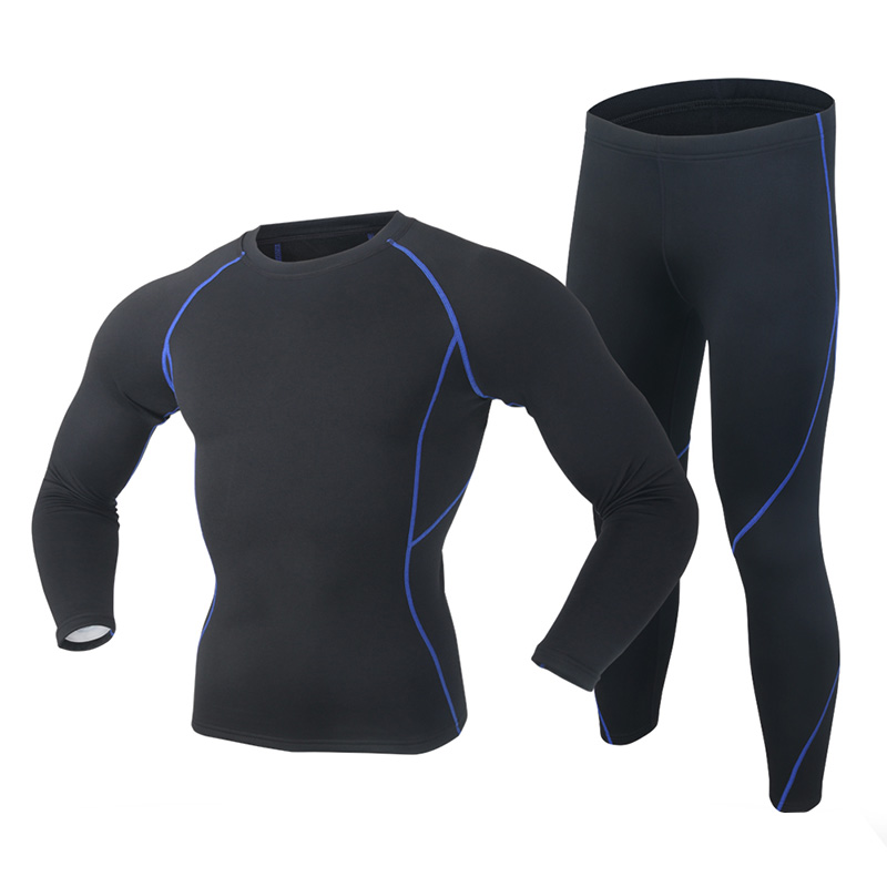 2019 New Winter Men Thermal Underwear Set Polartec Elastic Velvet Long Johns Thick Warm Thermo Underwear Breathable Tights 3XL