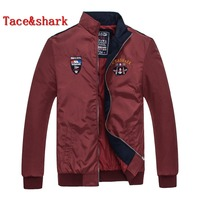 Jacket Male Tace&shark Brand clothing Men's jacket Zipper collar embroidery long sleeved jacket Rich billionaire