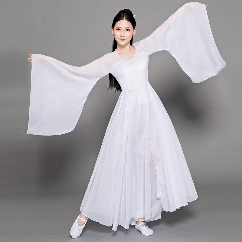 Classic Zither Dance Performace Clothing Chinese Ancient Young Lady Dress Gown Cosplay Costume Improved Women Hanfu Clothes