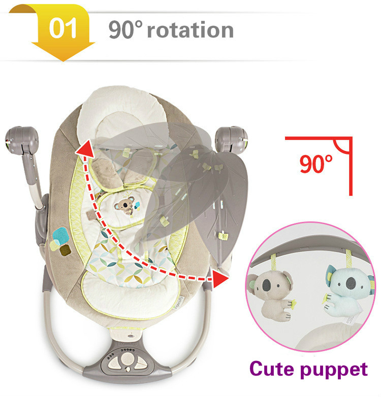 HTB1atvMaHr1gK0jSZFDq6z9yVXaw EU safety baby rocking chair 0-3 baby Electric cradle rocking chair soothing the baby's artifact sleeps newborn sleeping
