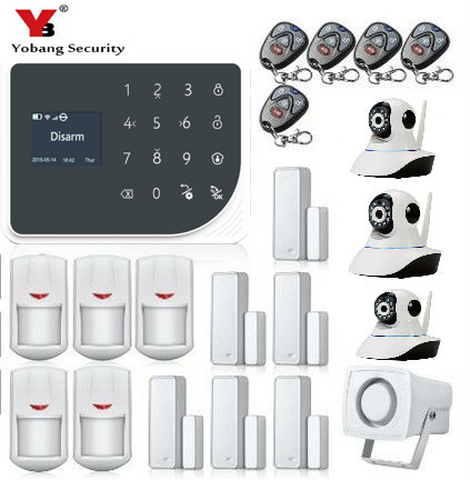 Yobang Security WiFi GPRS GSM Alarm system Detector Sensor Wireless Security Alarm System for home office store IOS Android APP g90b 2 4g wifi gsm gprs sms wireless home security alarm system ios android app remote control detector sensor