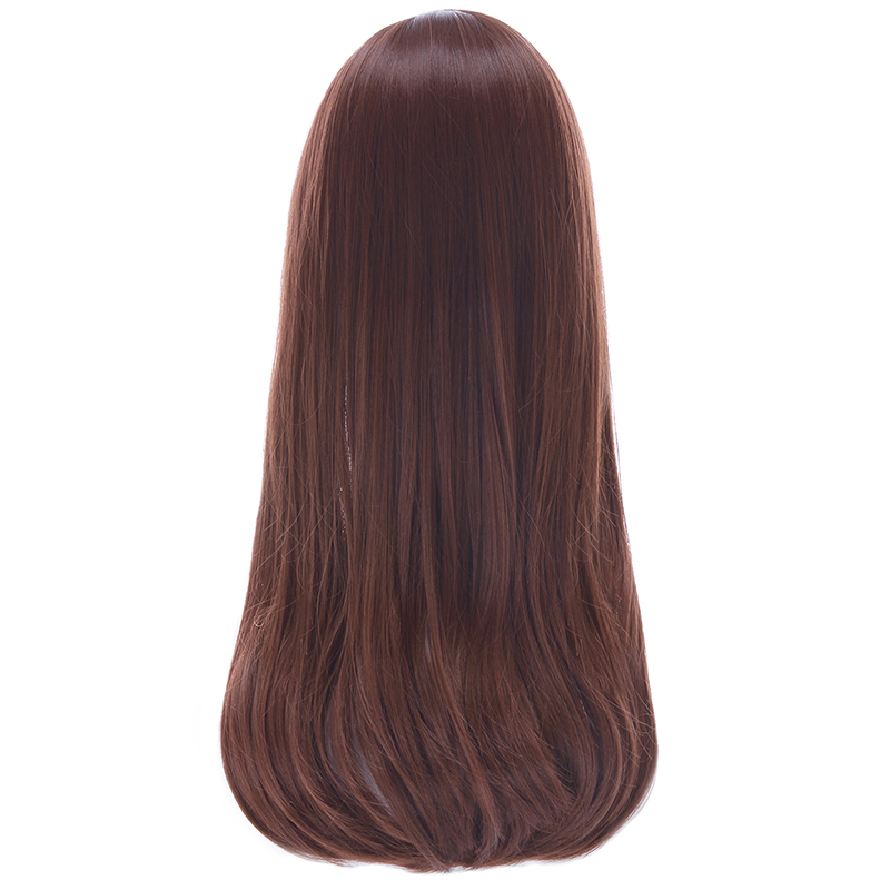 Image 3 - L email wig Game OW D.Va and Mercy Cosplay Wigs Color Brown Beige Heat Resistant Synthetic Hair Perucas Women Cosplay Wigwig colorwig gameswig wig -