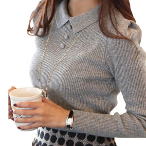 flubiflous Casual Women Buttons Pullover Knitted Sweaters