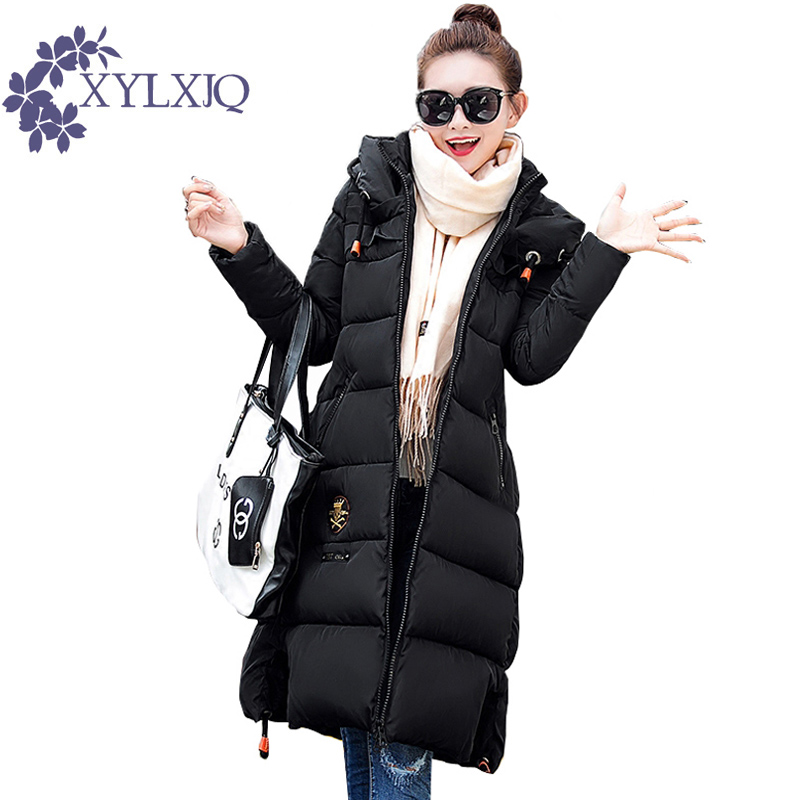 XYLXJQ Womens Winter Jackets And Coats 2017 Thick Warm Hooded Long Cotton Padded Parkas For Women Winter Jacket Female HQ096 стоимость