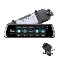 Dealcoo 10' Screen Mirror Dash Cam Dual Dashboard Camera Recorder RearView 1080P FHD Camera 4G WIFI Night Vision Parking Monitor