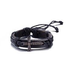 Pulseras hombre 2017 Fashion Simple Style Bracelet Hemp Rope Braided Leather Chain Unisex Cuff Bracelets Couple Bracelet Jewelry