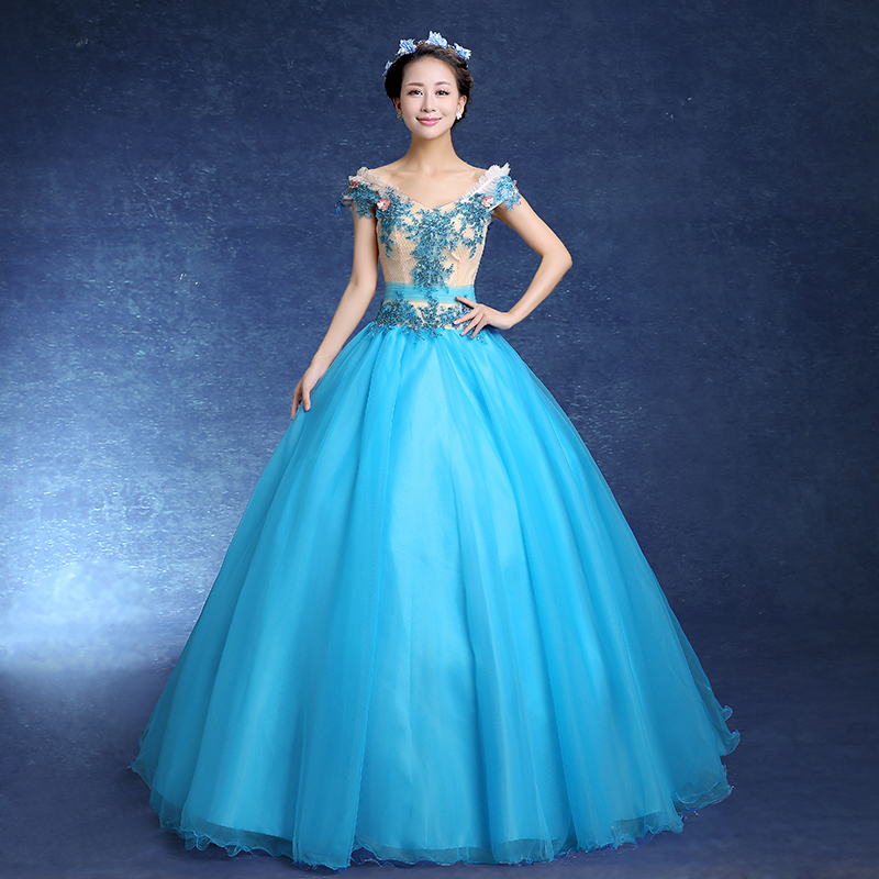 red/blue princess sissi medieval dress Medieval Renaissance Gown ...