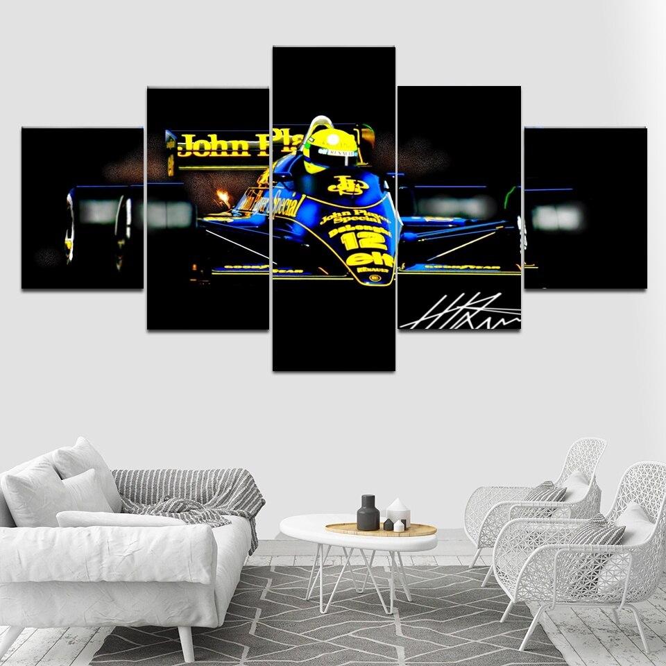 5-panel-printed-painting-modular-canvas-wall-art-ayrton-font-b-senna-b-font-da-silva-f1-racer-poster-modern-home-decor-artwork