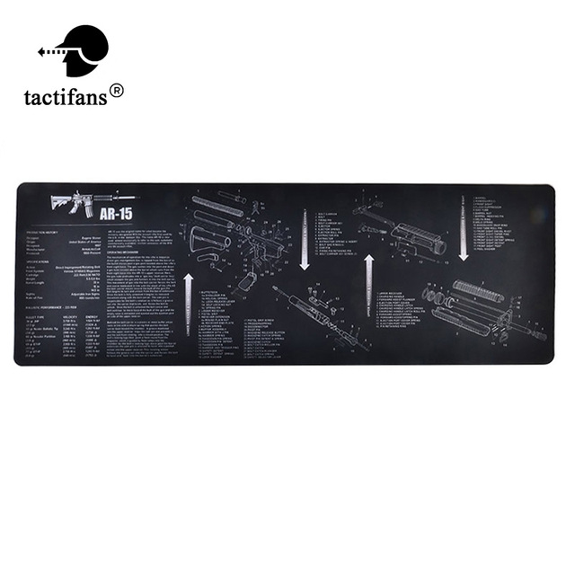 tactical gun cleaning mat rubber carpet waterproof non slip cleaning AR-15 Lower Parts Diagram tactical gun cleaning mat rubber carpet waterproof non slip cleaning bench with diagram parts and