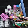 Nail Art Установить Акриловый Порошок Жидкий Блеск Файл Кисть Форма Советы Инструменты DIY Kit