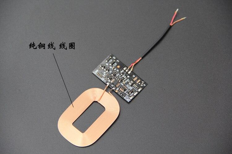 Беспроводной Зарядное устройство приемник модуль pcba доска катушки универсальный патч Универсальный QI встроенный DIY модификации чип