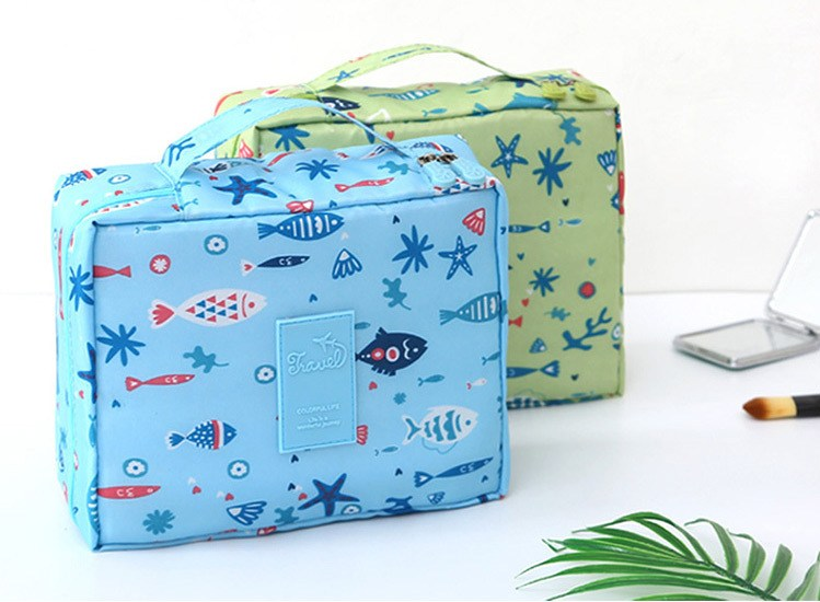 HTB1atw Vr2pK1RjSZFsq6yNlXXa7 - New Flower Makeup Bag Women Waterproof Portable Cosmetic Bag Travel Necessity Beauty Toiletry kit Organizer Bag