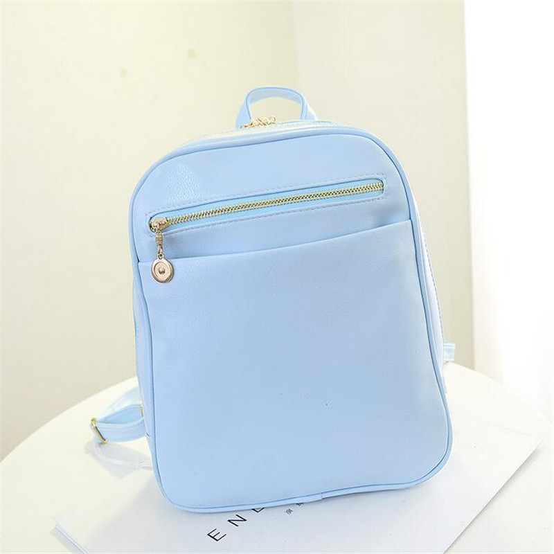 2016 summer new candy color casual shoulder bag backpack fresh girl Fashion Institute of European and