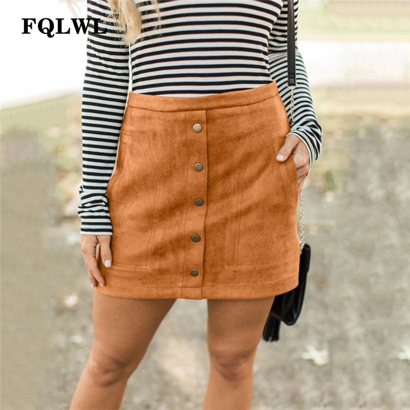 c86ca30fca975c Detail Feedback Questions about FQLWL Suede Faux Pu Leather Skirts Womens  Pink High Waist Short Wrap Sexy Skirt Female Streetwear Skinny Pencil Mini  Women ...