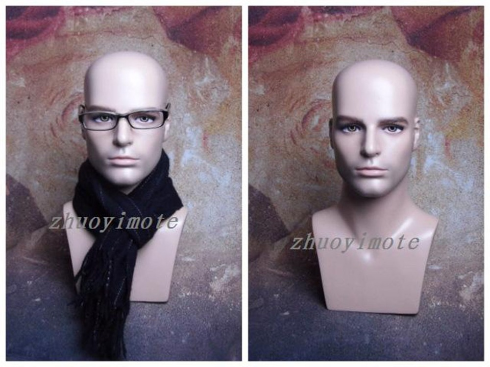 New free shipping Men Mannequin Head Wigs Hats Cap Headphone Display maniqui Model For Hair Jewellery