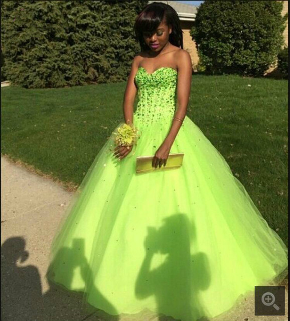 Ball gowns dresses 18w lime yellow white
