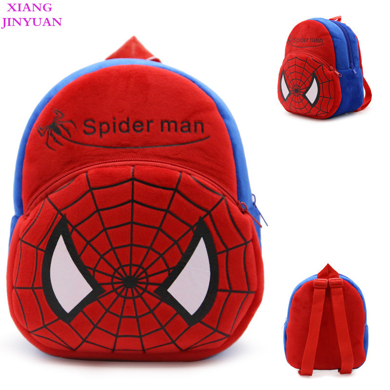 <font><b>1-3</b></font> Years Old Child 2018 Cute Cartoon <font><b>Spider</b></font> <font><b>Man</b></font> School Bags for Boys Unique Baby Red Backpack Fashion Creative Fun Swisswin