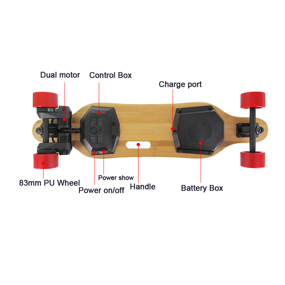 Image 3 - Super Electric Skateboard & Longboard T Shade LED Lights 900 Watts Belts Dual Motors with Wireless Remote Controller Plate Board-in Skate Board from Sports & Entertainment