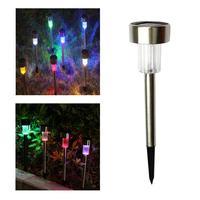 10 stks Solar LED Gazon Lamp Automatische Lichtregeling Rvs Outdoor Tuinverlichting Waterdicht yard Decoratie Verlichting