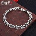 Beier 925 plata esterlina pulsera del acoplamiento de cadena de calidad superior punk hombre pulsera ancla de la cadena manual sctyl0056