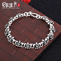 Beier 925 sterling silver bracelet link chain top quality punk man bracelet  anchor hand chain SCTYL0056