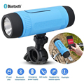 New Outdoor Waterproof Bluetooth Speaker With LED Flashlight Power Bank Sport Stereo Wireless Portable Speaker Support TF Card