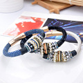 The New All-Match Fashion Top grade leather Inlay zircon Bangles For Women Never out of season