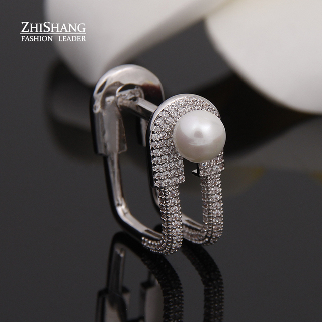 Luxury Pin Pearl Ring For Women Edgy Rock Personality Square Finger Ring For Party Accessaries Bague Femme WR001