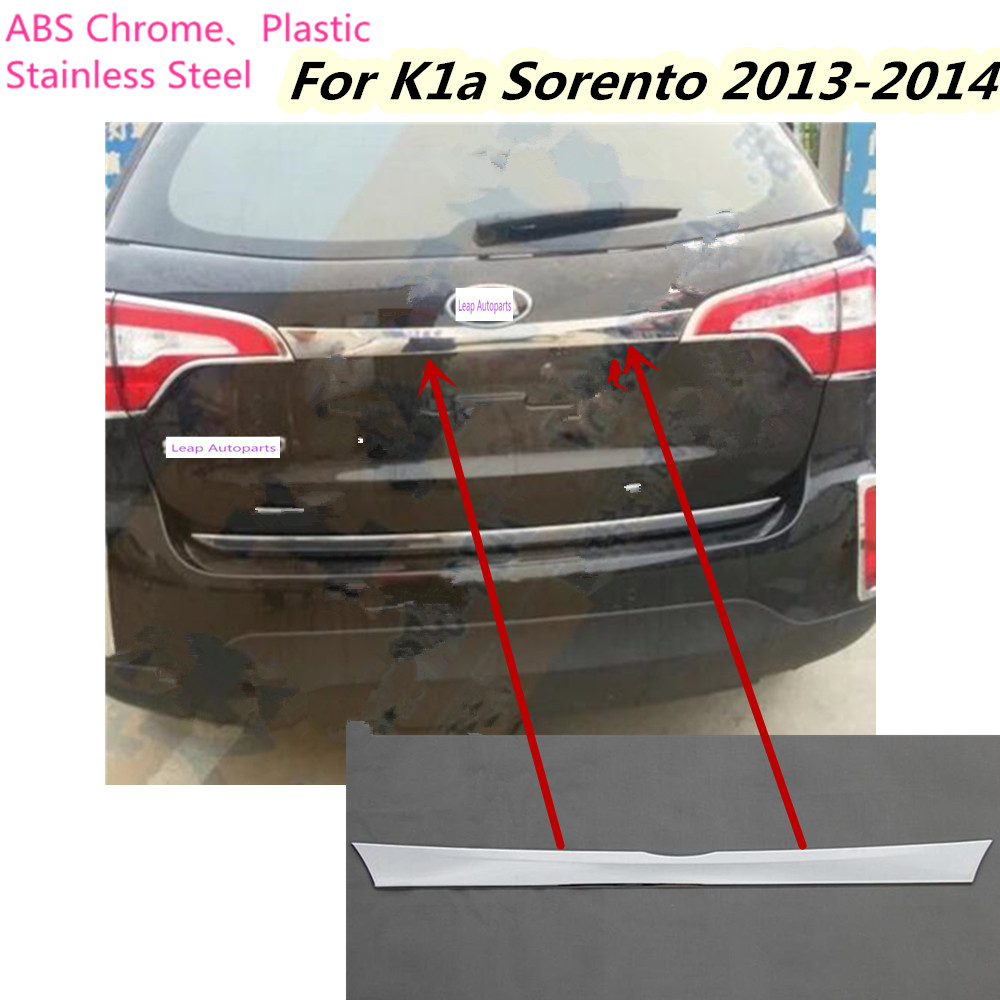 For Kia Sorento 2013 2014 Car Stick body stainless steel Rear back door tailgate bumper frame plate trim lamp trunk Lid 1pcs кулон жемчужина нила lampwork ручная авторская работа