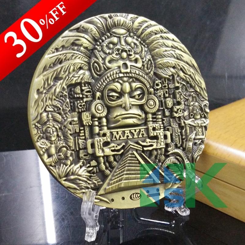 1 stk 80 * 10mm Mayan Calendar Prophecy Maya gamle kulturelle suvenir - Hjemmedekorasjon