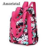Women Drawstring Bags Fashion Simple Pocket Girl Schoolbag Camouflage Red Backpack Shoulder Folding Waterproof Backpack B239