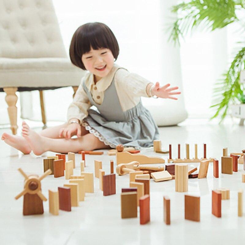 100 pièces en bois pour enfants adulte intelligence jouet orgue domino puzzle blocs de construction jouets