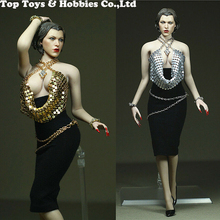Costume 1/6 Scale Female evening dress Fantasy Costume Clothes Model For 12'' big chest Female seamless Body without body head