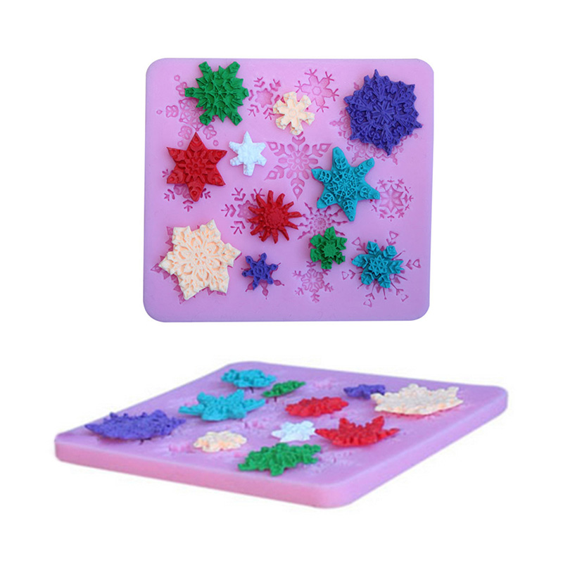 Silicone Snowflake Cookies Chocolate Cake Molds Decoration Cakes Tools Backing Molding Kitchenware Cute Tool For Cookhouse